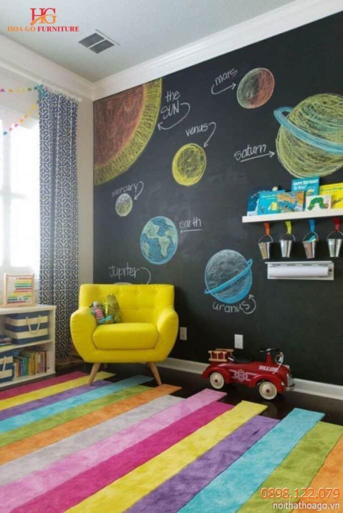 Trang trí bức tường với chủ đề thiên hà