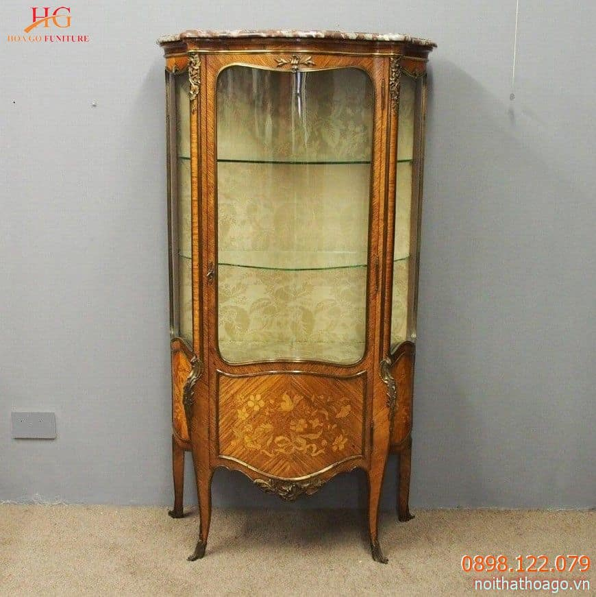 Tủ trưng bày phong cách châu Âu cổ điển