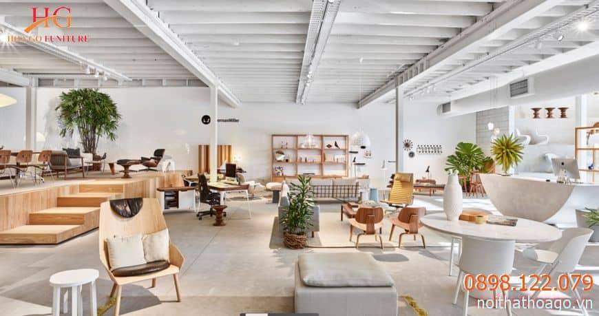 Tùy vào mặt hàng, không gian showroom nên được thiết kế lớn, nhỏ cho phù hợp