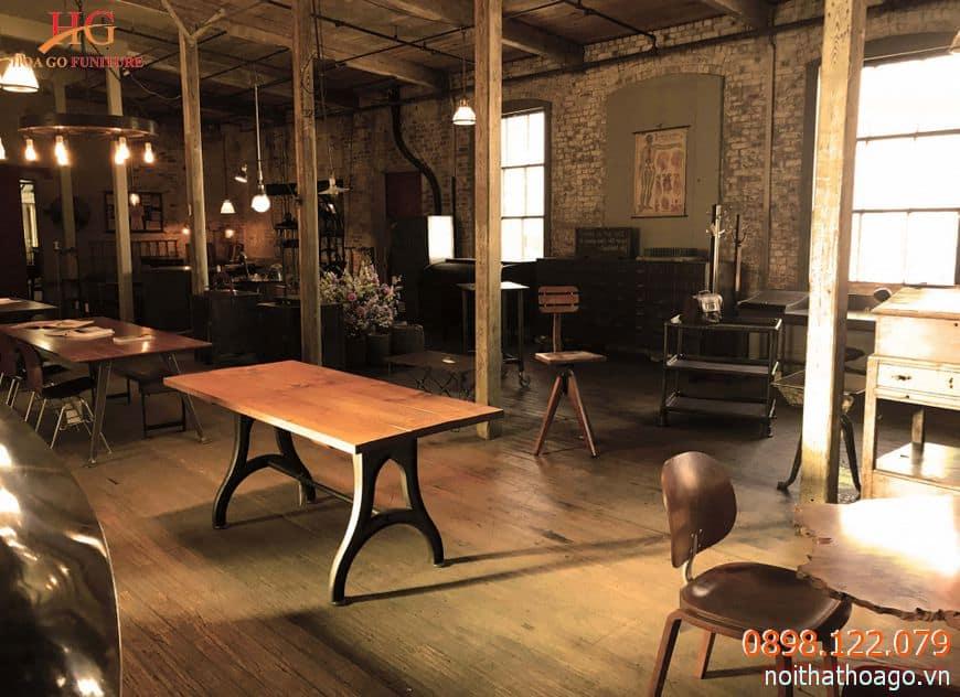 Vật liệu gỗ thường đi với các thiết kế vintage, tạo cảm giác hoài cổ, ấm áp