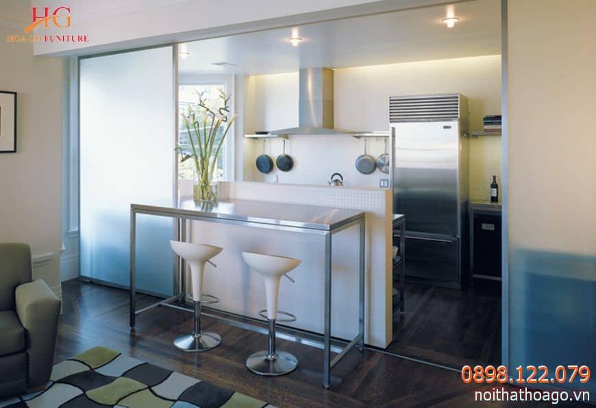Tổng hợp các kiến thức cần biết khi chọn vách ngăn trang trí phòng bếp