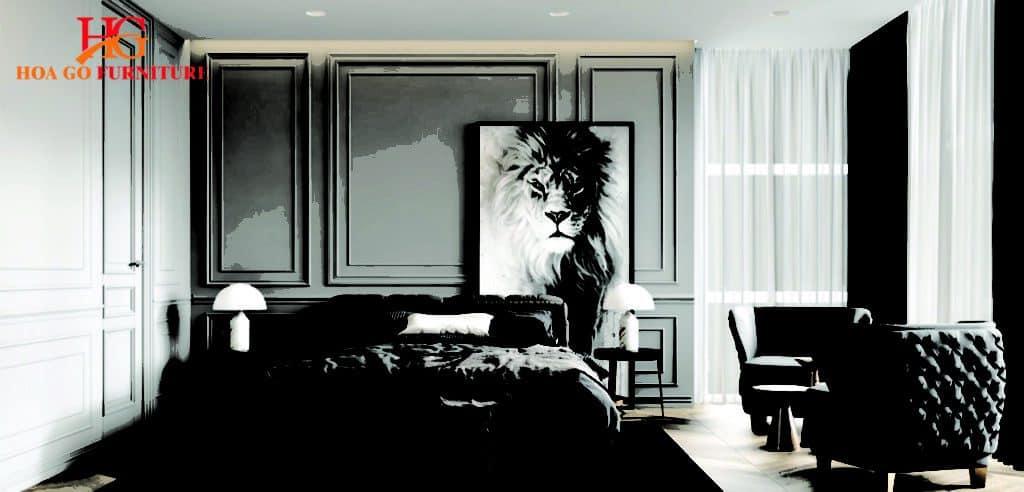 thiết kế nội thất phòng ngủ kiểu tân cổ điển tại TPHCM 1