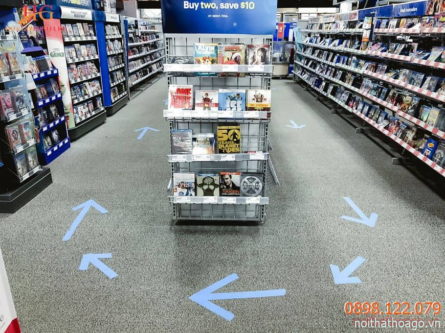 Tạo lối đi vừa đủ rộng để khách hàng có những trải nghiệm mua sắm tốt nhất