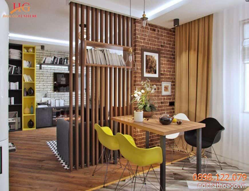 Vách ngăn bằng gỗ rất phù hợp với kiến trúc sang trọng