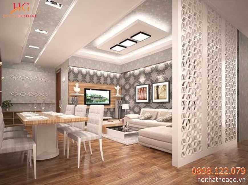 vach ngan bang nhua dep hien dai nhung kha nang chiu nhiet kem - Tổng hợp mẹo lựa chọn các loại vách ngăn trang trí phòng khách đẹp
