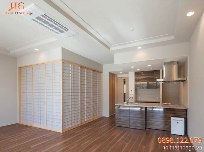 Vách ngăn dạng kéo rất phổ biến trong thiết kế nội thất theo phong cách Nhật |Bản