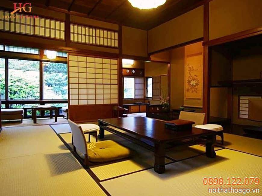 Vách ngăn kiểu Nhật rất phù hợp với phong cách kiến trúc chuẩn Á Đông