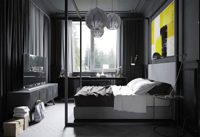 ý tưởng nội thất phòng ngủ nam 27