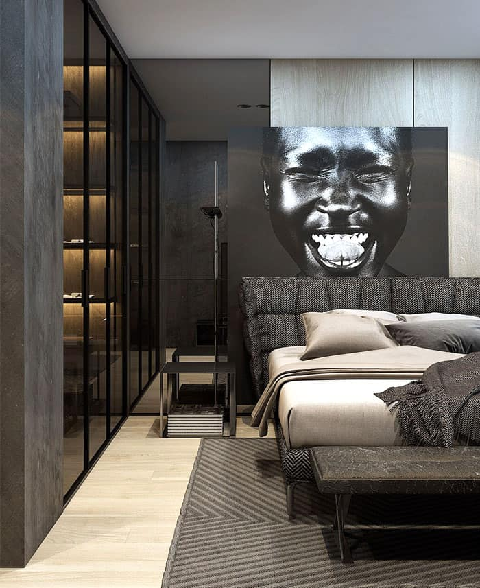 ý tưởng nội thất phòng ngủ nam 4