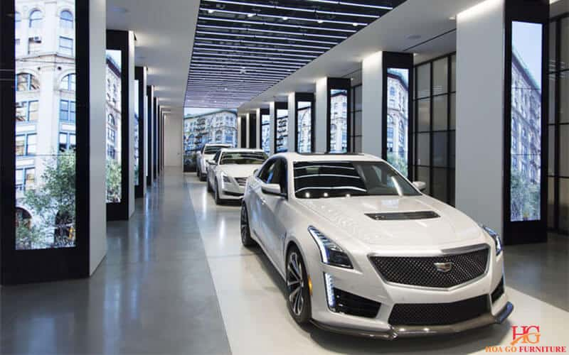thiết kế nội thất cho phòng trưng bày ô tô