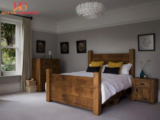 Sử dụng gỗ tối màu trong xu hướng thiết kế nội thất phòng ngủ đẹp