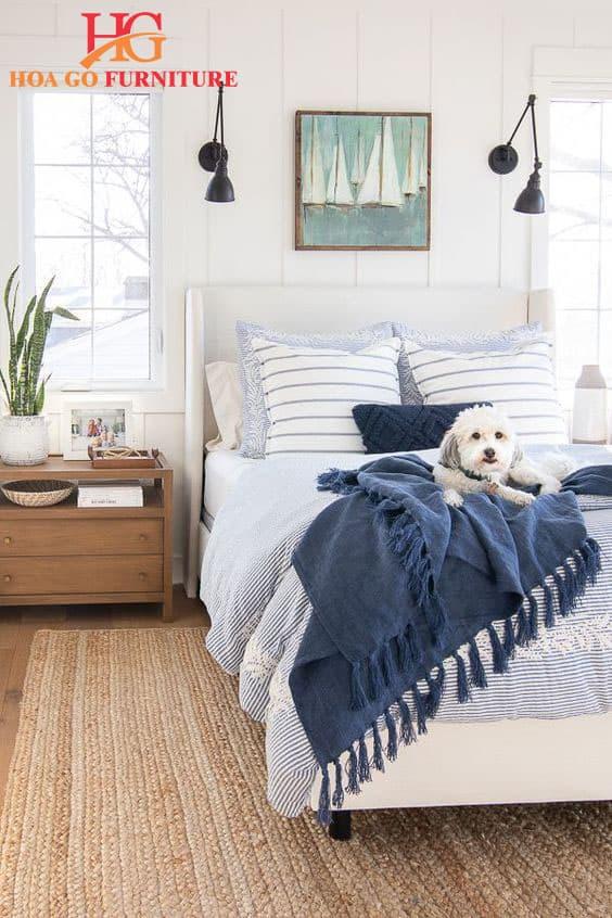 mẫu nội thất phòng ngủ màu trắng 2