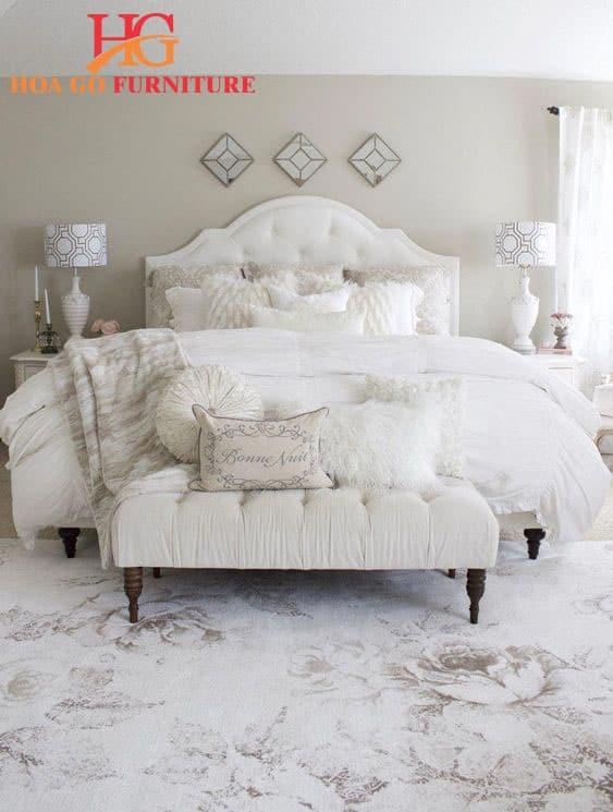 mẫu thiết kế nội thất phòng ngủ màu trắng