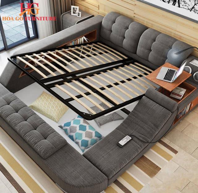 giường ngủ kết hợp với các tiện ích thông minh
