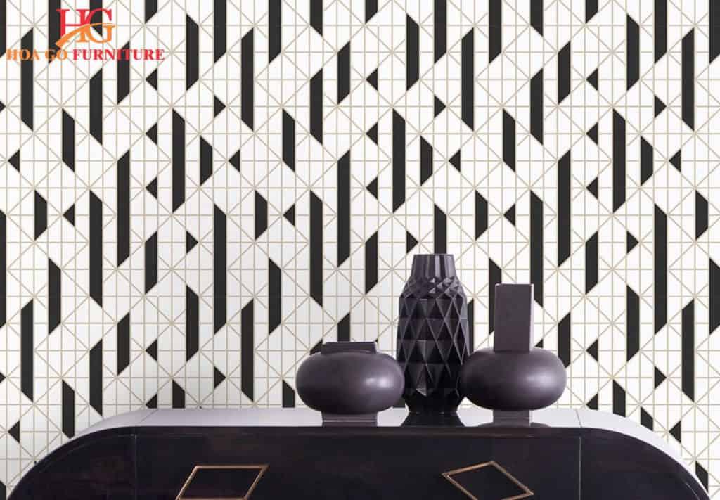 Dùng giấy dán tường để trang trí rẻ hơn đáng kể so với việc sử dụng gạch nghệ thuật