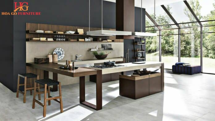 trải nghiệm không gian nội thất nhà bếp hiện đại