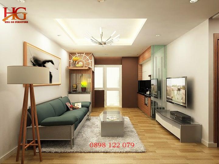 Thiết kế nội thất phòng khách chung cư diện tích nhỏ hẹp