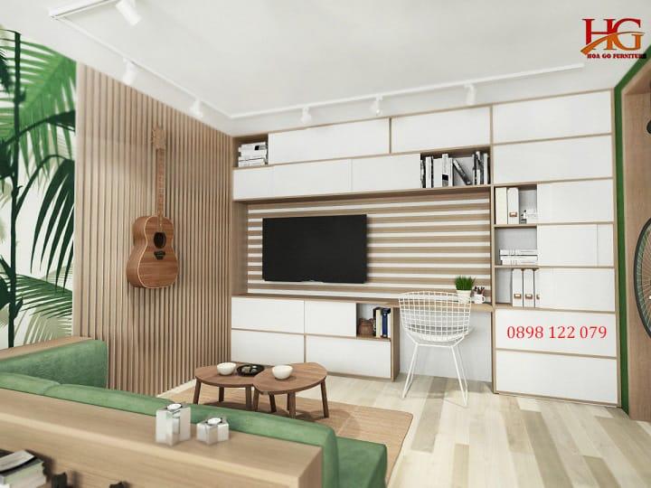 Tuyệt chiêu thiết kế căn hộ chung cư mini 2 phòng ngủ tiện nghi với chi phí thấp